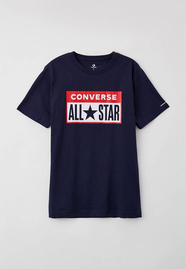 футболка с коротким рукавом converse для мальчика, синяя