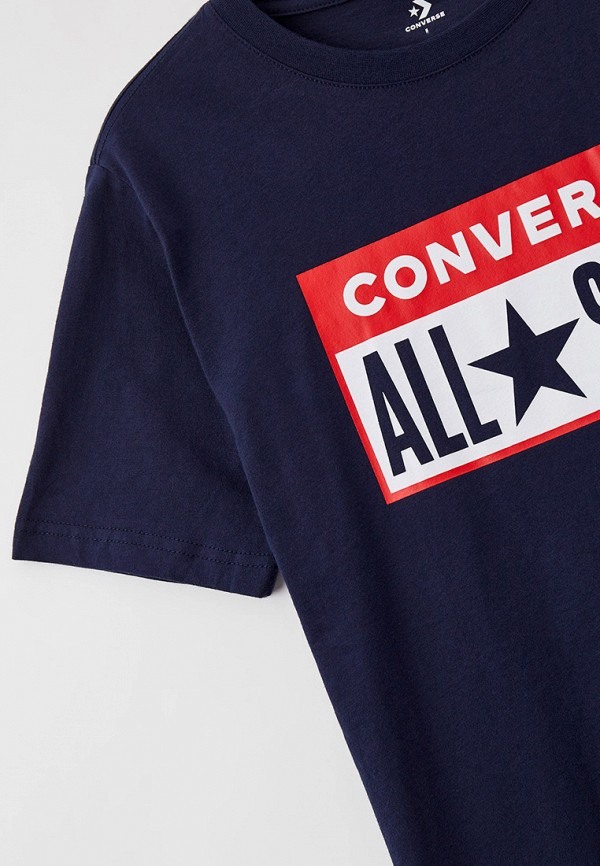 Футболка для мальчика Converse цвет синий  Фото 3