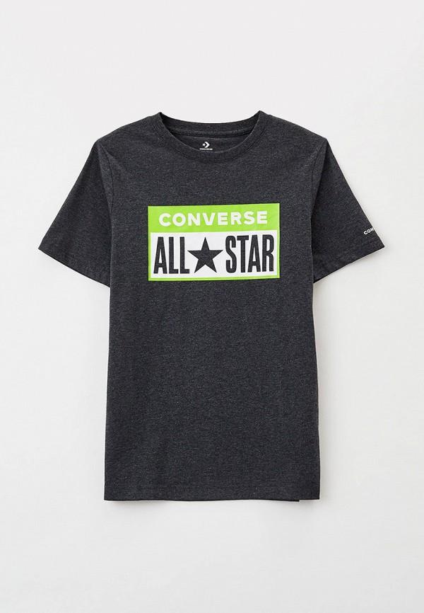 футболка с коротким рукавом converse для мальчика, серая