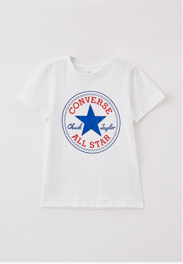 футболка с коротким рукавом converse для мальчика, белая
