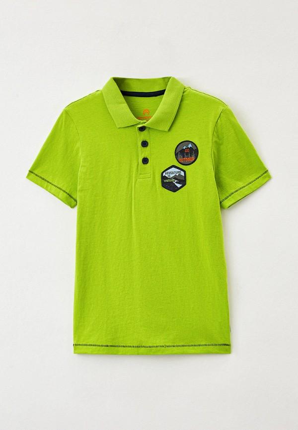 поло outventure для мальчика, зеленое