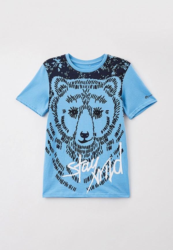 футболка с коротким рукавом outventure для мальчика, голубая