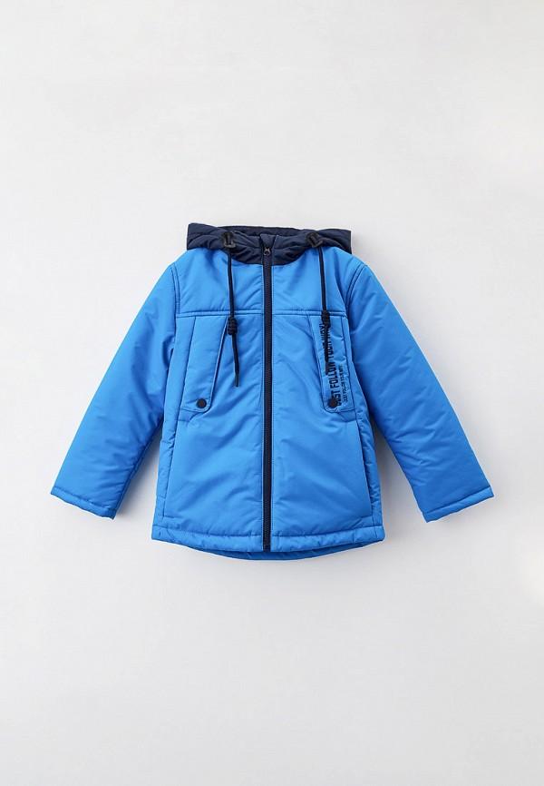 утепленные куртка артус для мальчика, голубая
