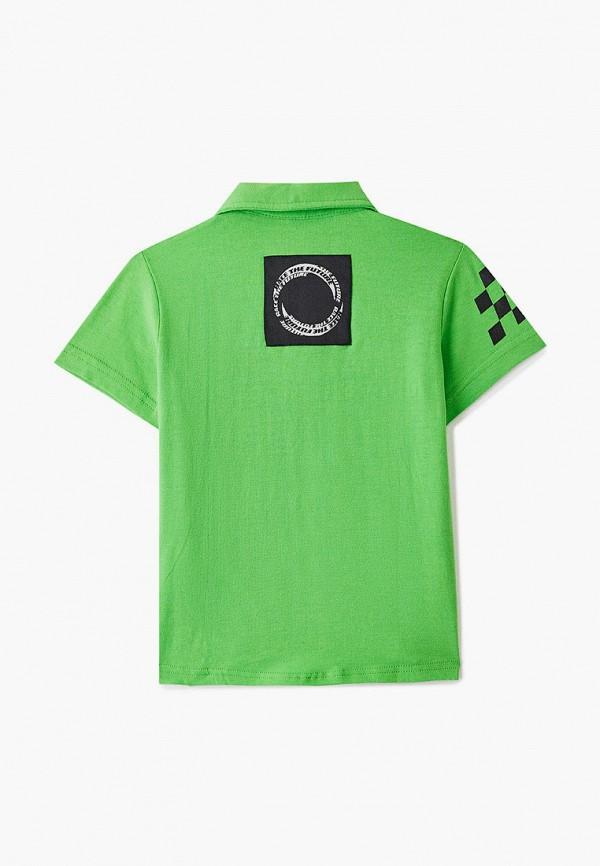Поло для мальчика PlayToday цвет зеленый  Фото 2