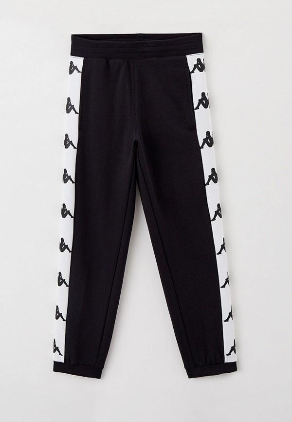 спортивные брюки kappa для мальчика, черные