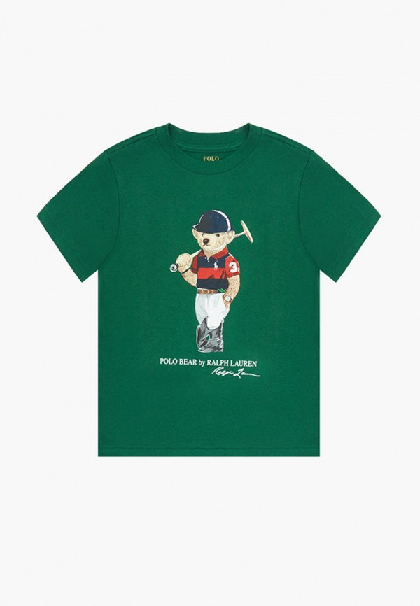 футболка с коротким рукавом polo ralph lauren для мальчика, зеленая