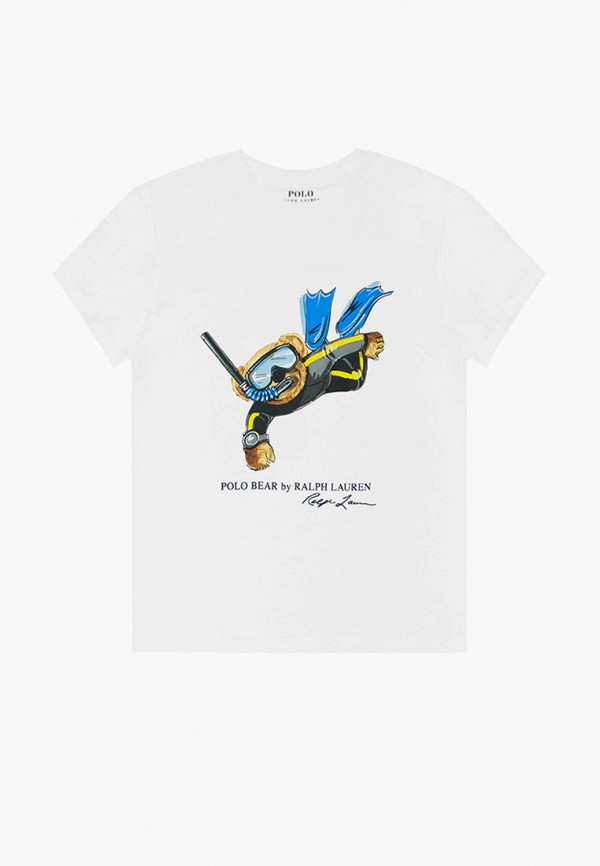 футболка с коротким рукавом polo ralph lauren для мальчика, белая
