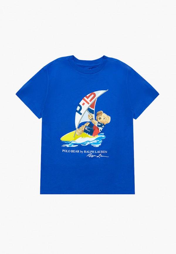 футболка с коротким рукавом polo ralph lauren для мальчика, синяя