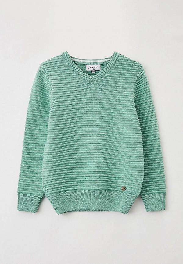 пуловер снег идёт для мальчика, зеленый