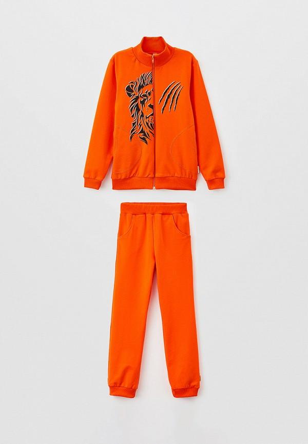 спортивный костюм looklie для мальчика, оранжевый