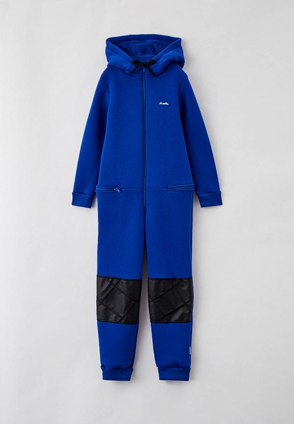 комбинезон с брюками looklie для мальчика, синий
