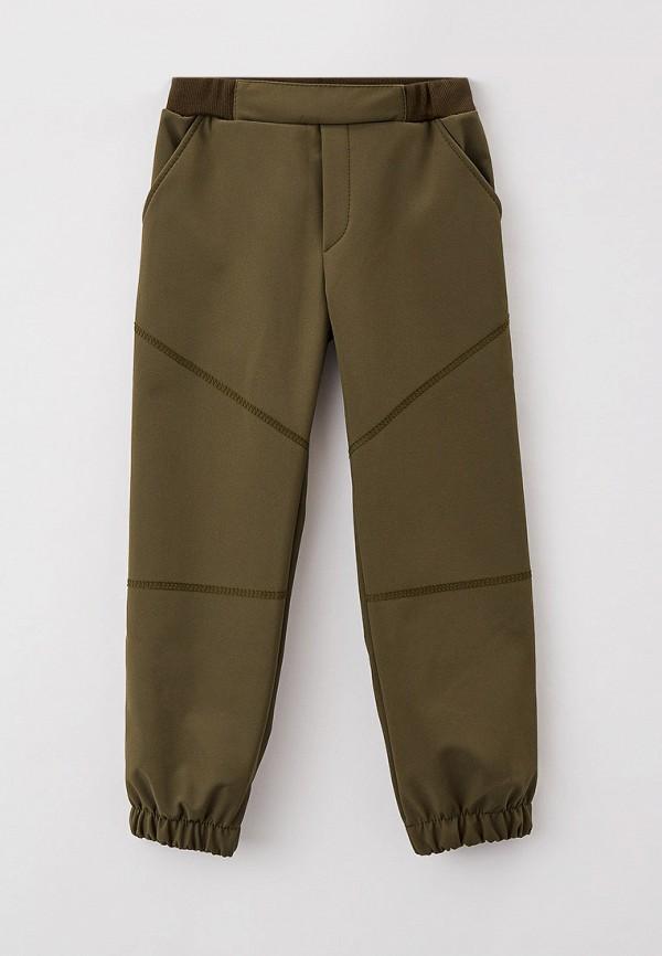 утепленные брюки looklie для мальчика, хаки