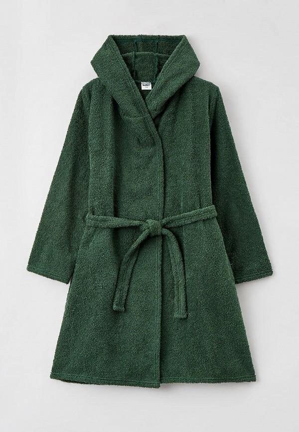 халат looklie для мальчика, зеленый