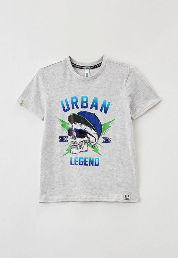 футболка acoola для мальчика, серая