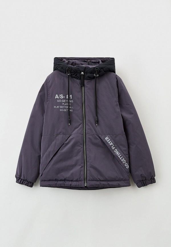 утепленные куртка артус для мальчика, серая