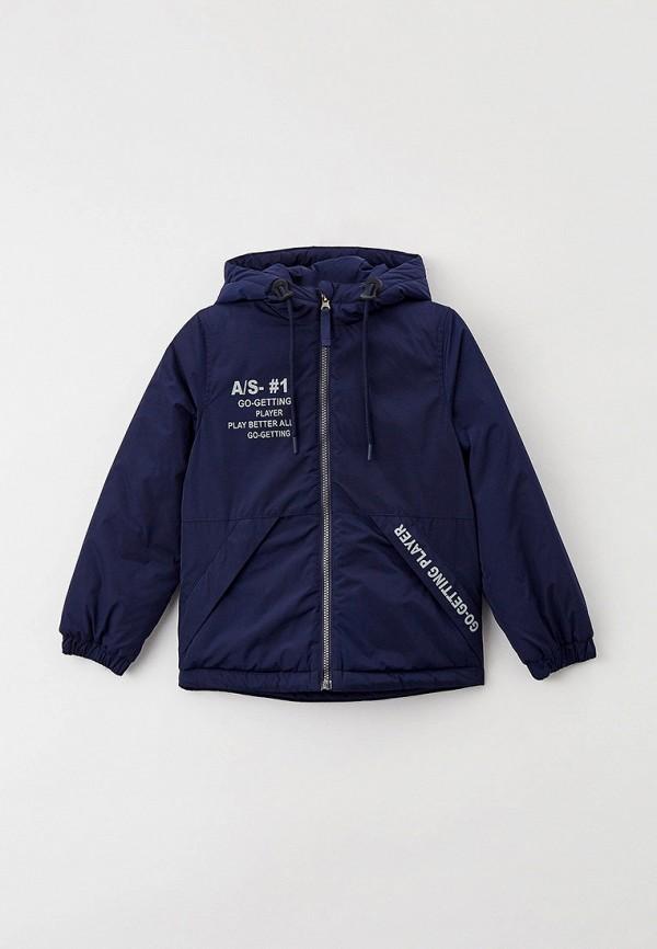 утепленные куртка артус для мальчика, синяя