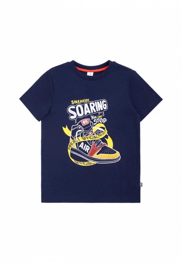 футболка с коротким рукавом crockid для мальчика, синяя