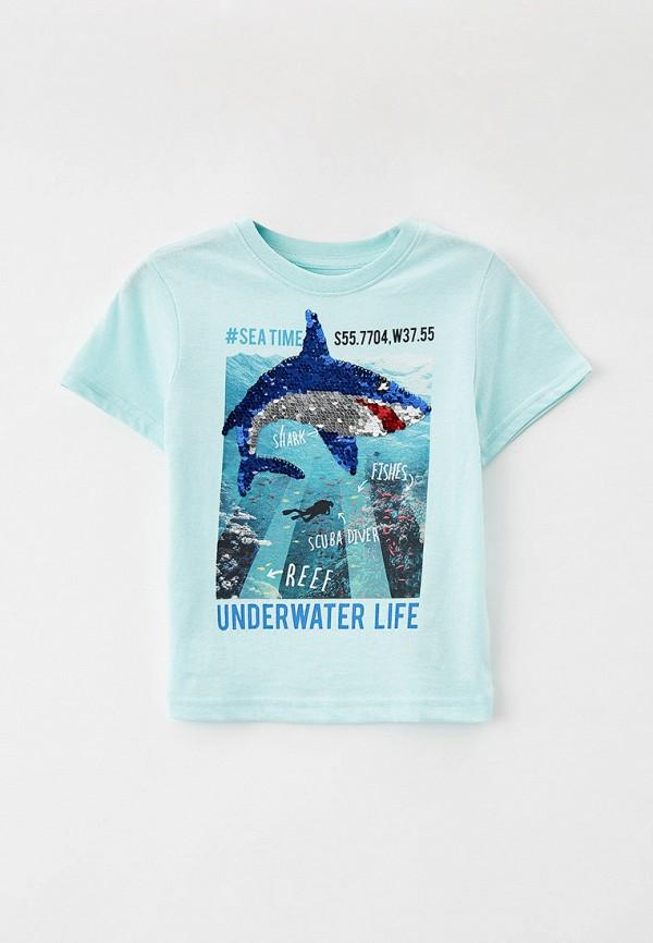 футболка с коротким рукавом o'stin для мальчика, бирюзовая