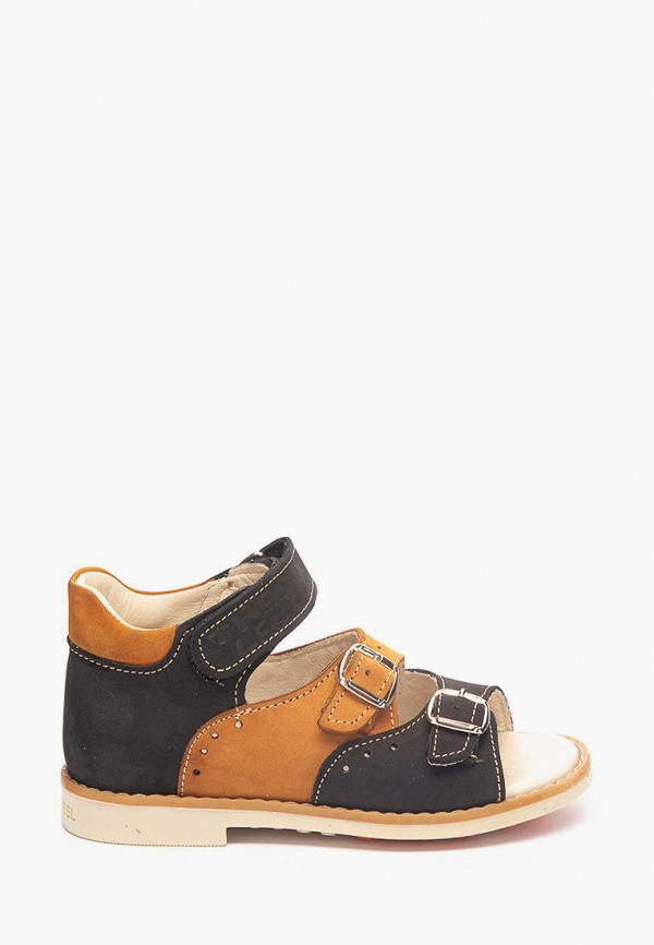 сандалии theo leo для мальчика, коричневые