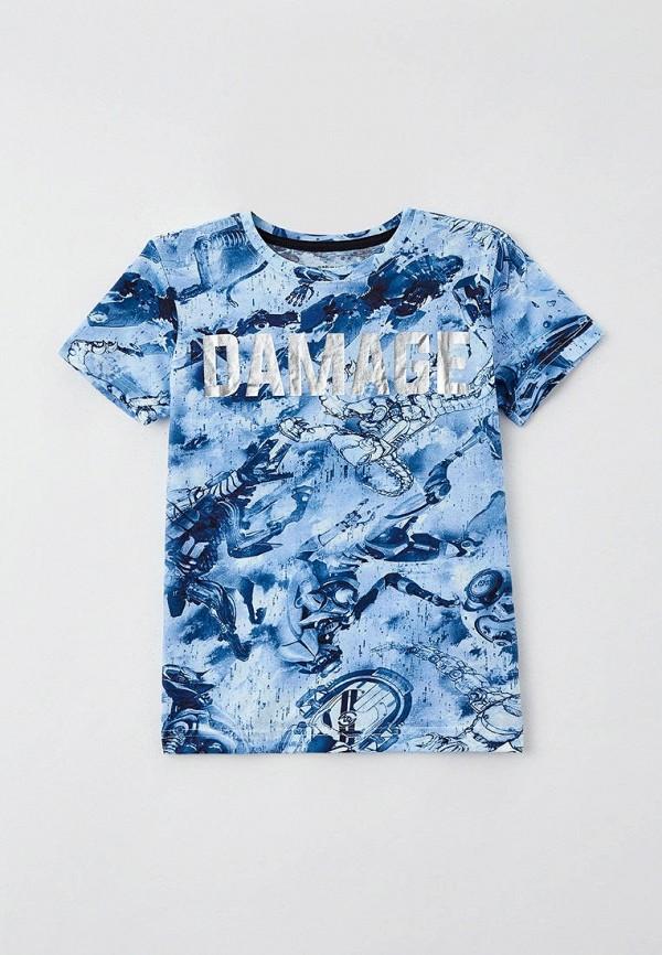 футболка с коротким рукавом o'stin для мальчика, голубая