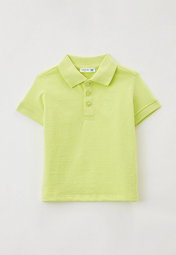 поло sela для мальчика, зеленое
