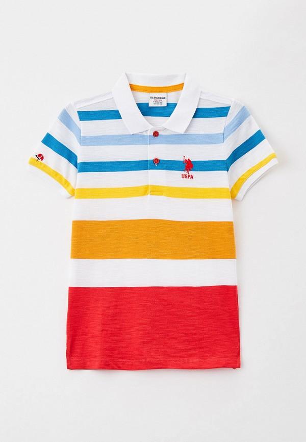 поло u.s. polo assn для мальчика, разноцветное