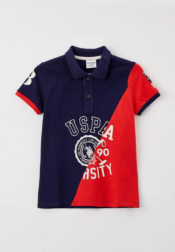 поло u.s. polo assn для мальчика, синее