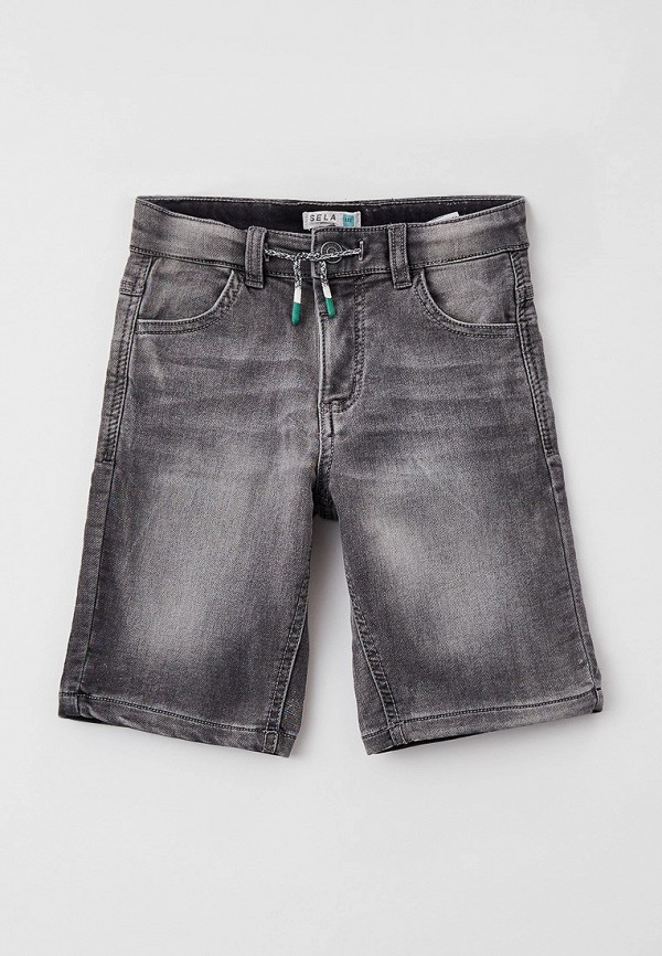 джинсовые шорты sela для мальчика, серые