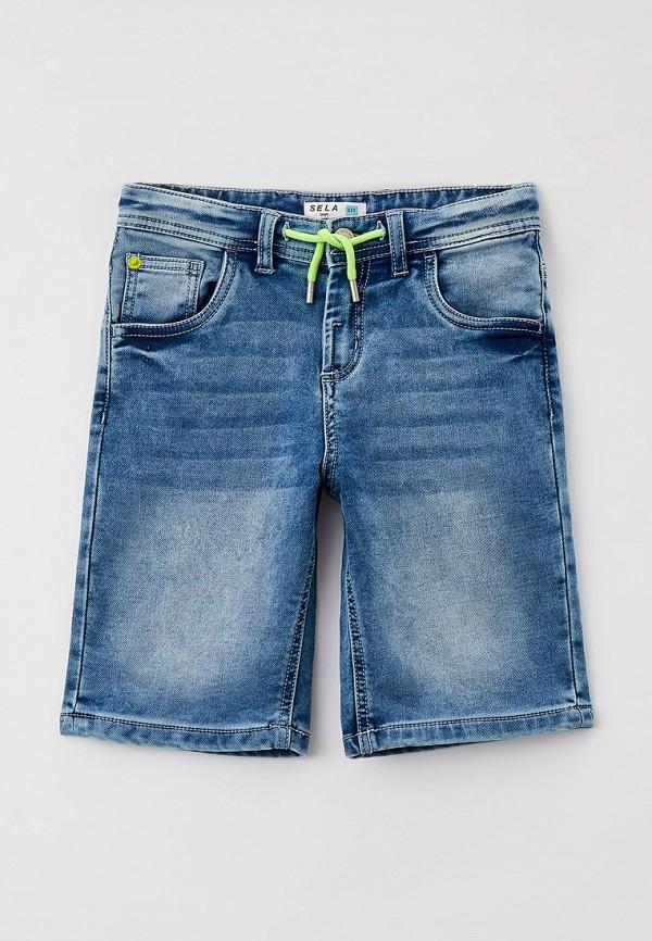 джинсовые шорты sela для мальчика, голубые