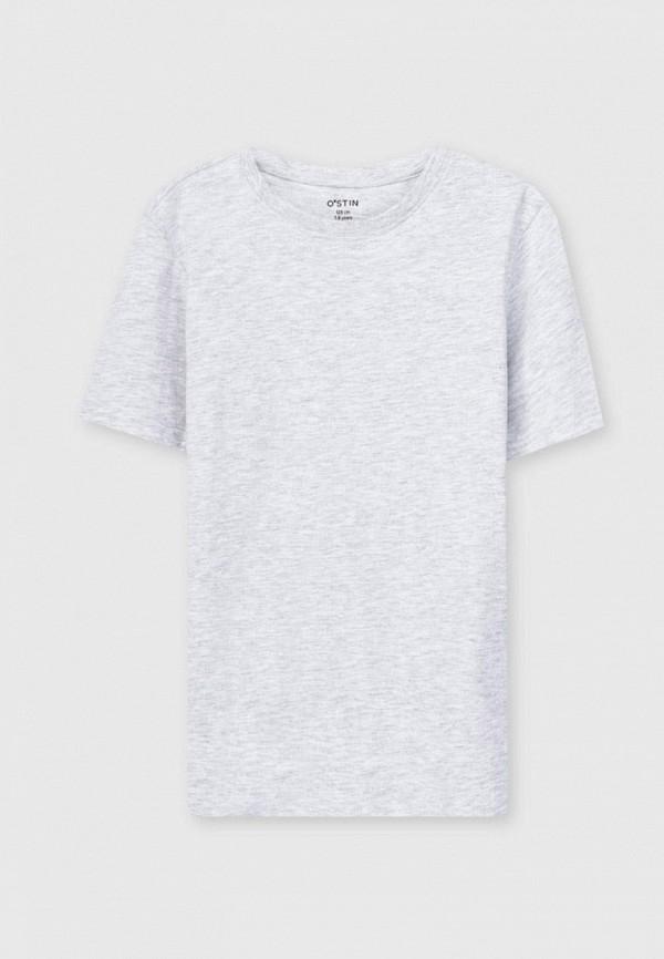 футболка с коротким рукавом o'stin для мальчика, серая