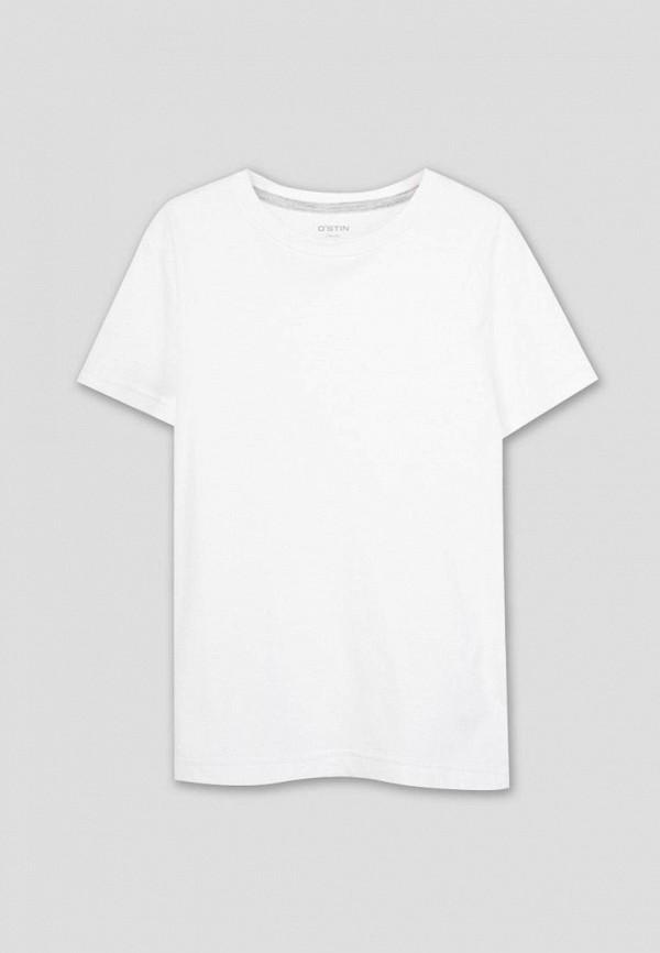футболка с коротким рукавом o'stin для мальчика, белая