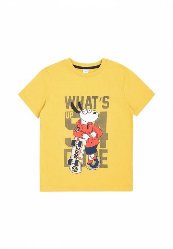 футболка с коротким рукавом crockid для мальчика, желтая
