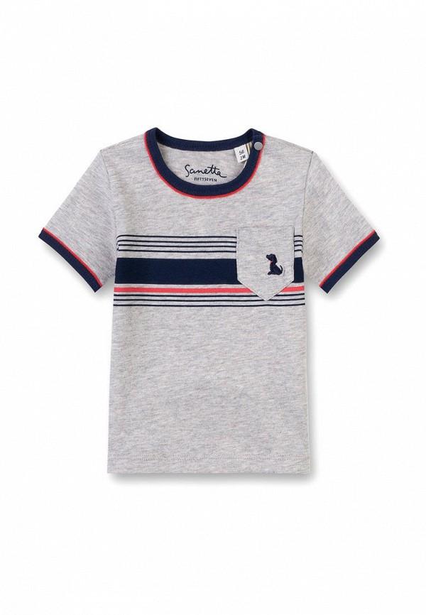 футболка sanetta для мальчика, серая
