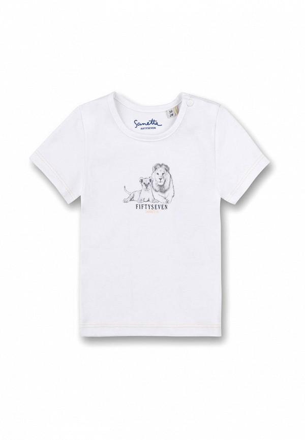 футболка sanetta для мальчика, белая