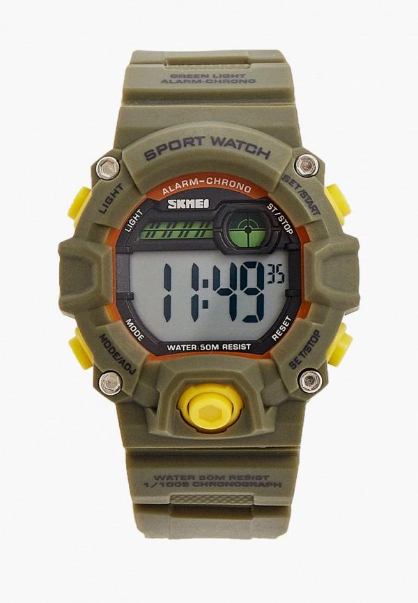 часы skmei для мальчика, хаки