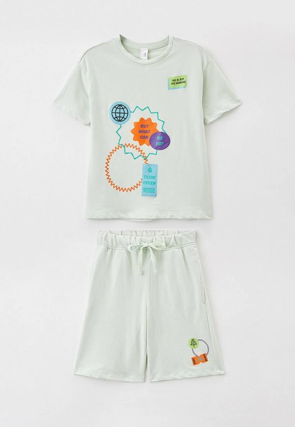 пижама sela для мальчика, зеленая