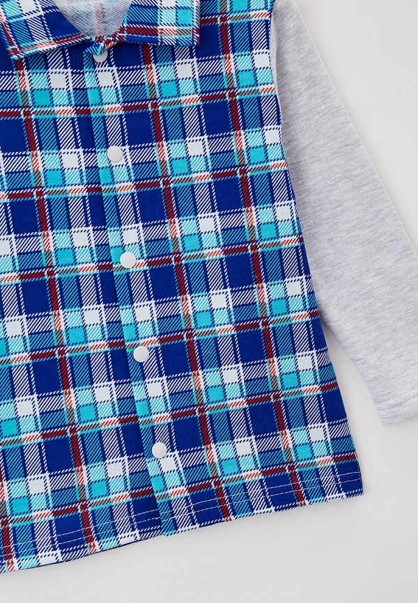Рубашка для мальчика Youlala цвет синий  Фото 3