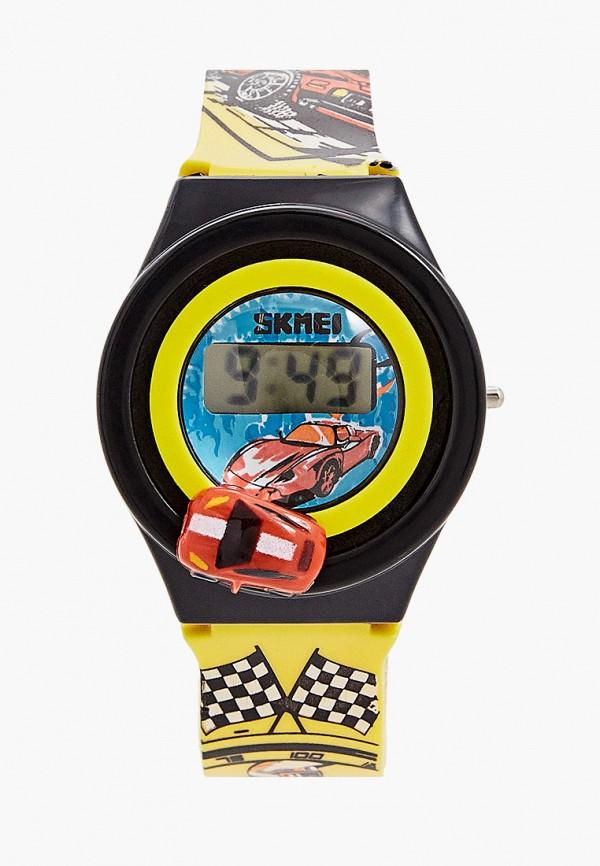 часы skmei для мальчика, желтые