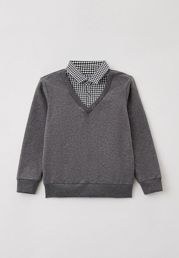 пуловер mark formelle для мальчика, серый