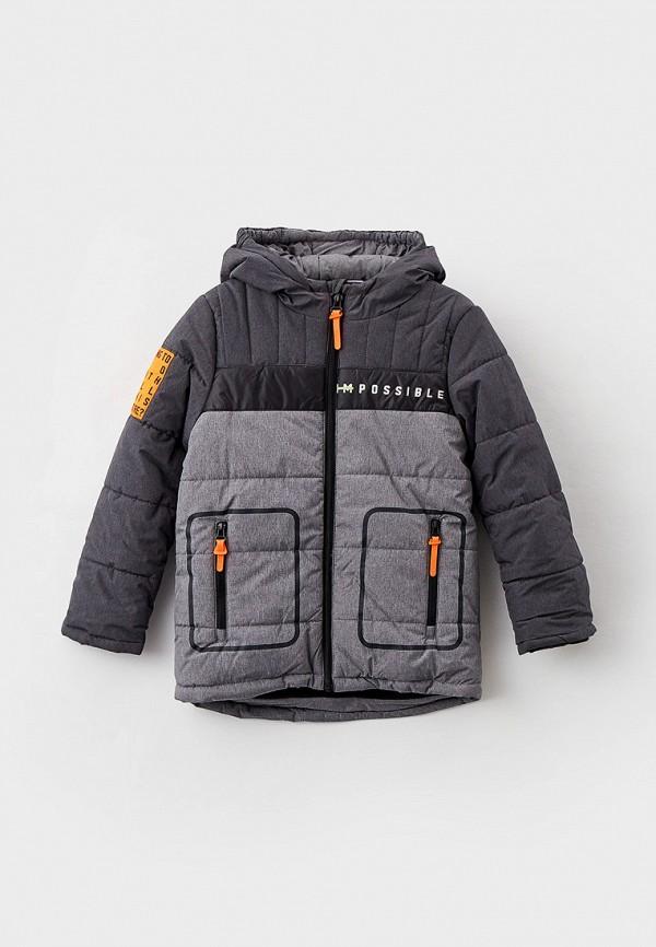 утепленные куртка coccodrillo для мальчика, серая