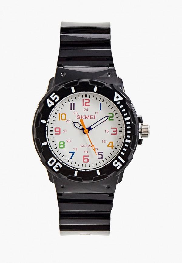 часы skmei для мальчика, черные