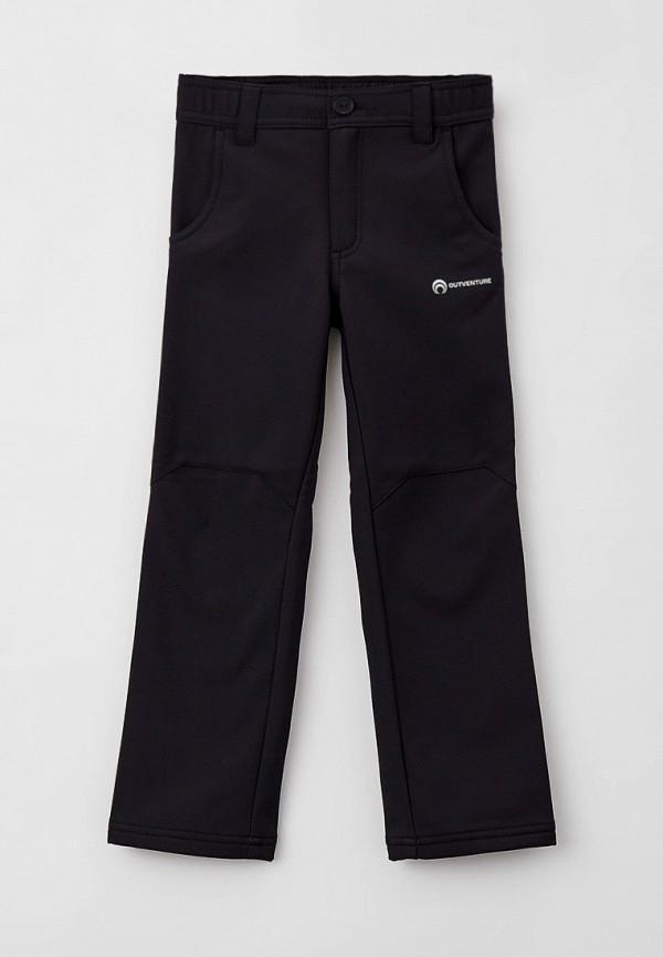 утепленные брюки outventure для мальчика, черные