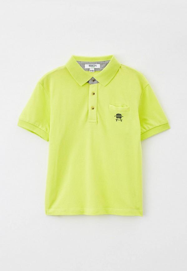 поло baon для мальчика, зеленое