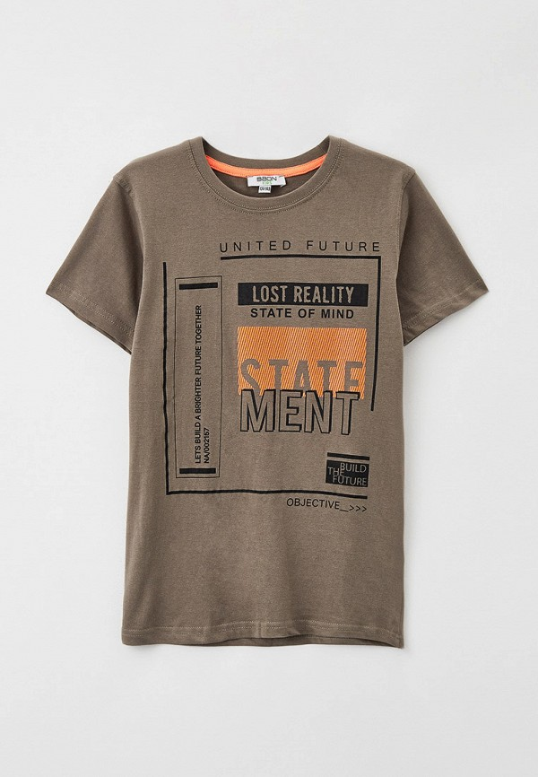 футболка с коротким рукавом baon для мальчика, коричневая