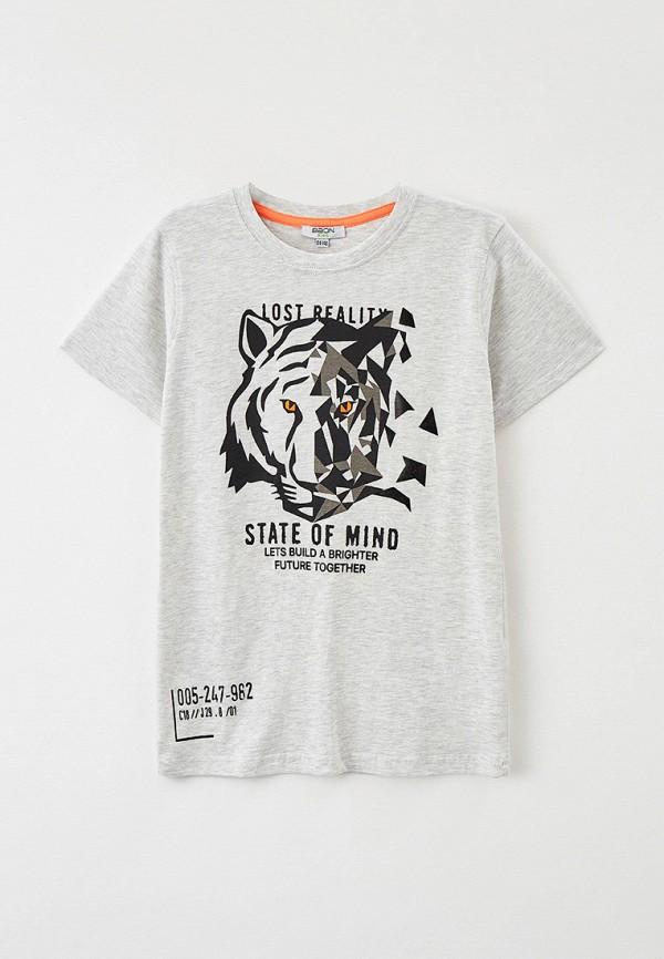 футболка с коротким рукавом baon для мальчика, серая