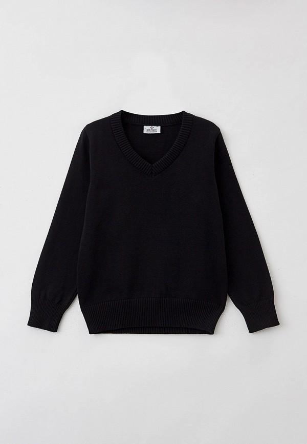 пуловер stenser для мальчика, черный