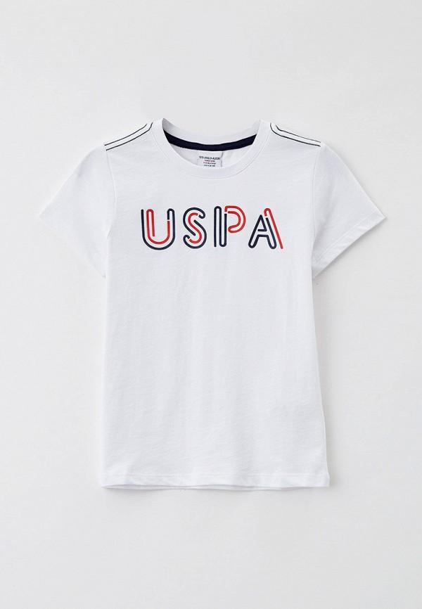 футболка с коротким рукавом u.s. polo assn для мальчика, белая