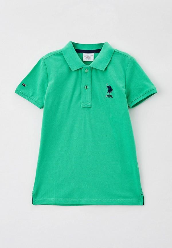 поло u.s. polo assn для мальчика, зеленое