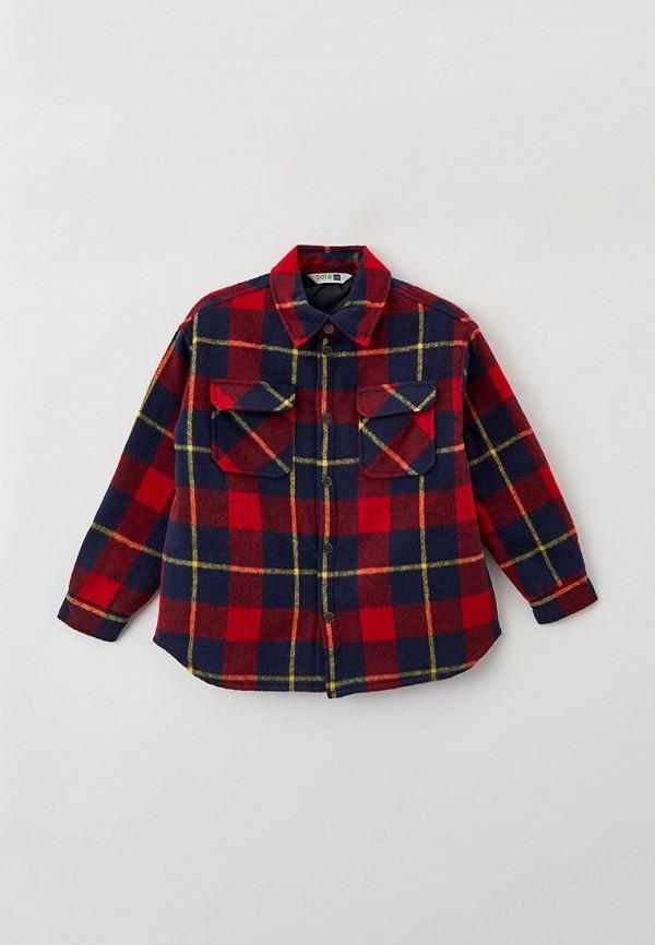 пальто sela для мальчика, разноцветное