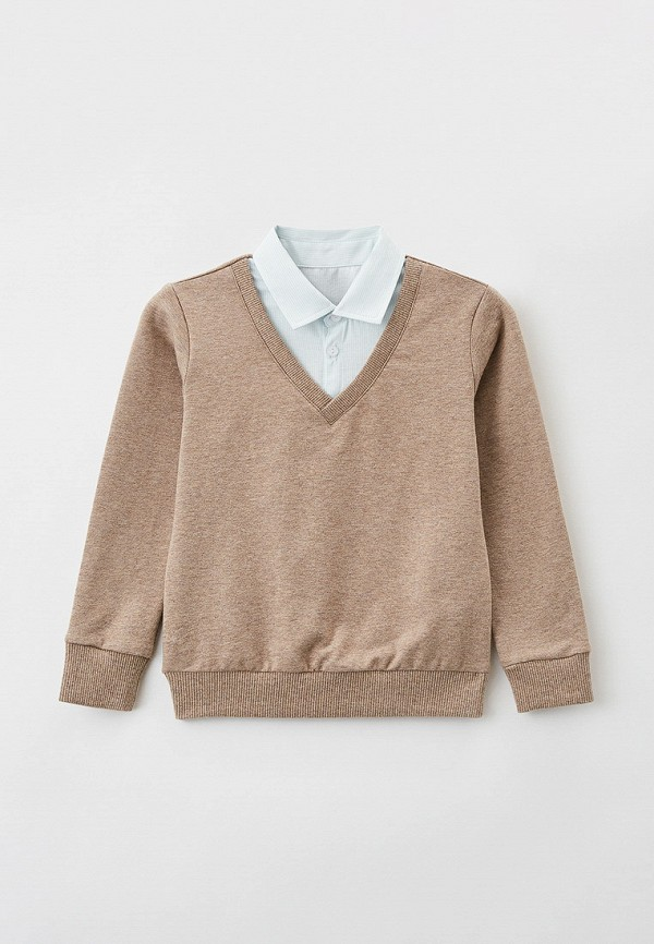 пуловер mark formelle для мальчика, бежевый